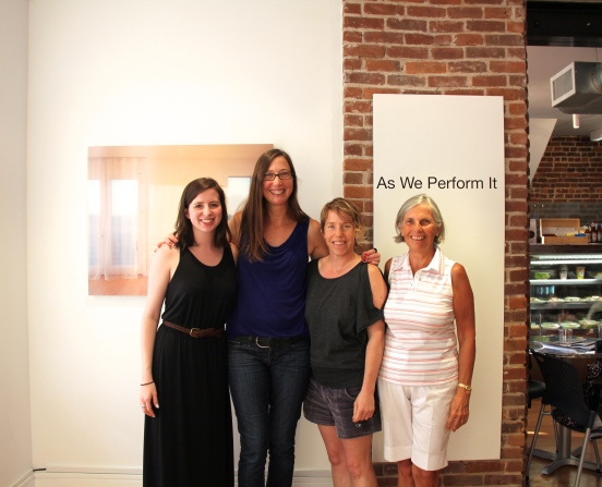 From left to right: Franklin Street Works' Sandrine Milet, Terri C. Smith, contemporary artist Kristen Lucas, and founder Kathryn Emmett. Photos/Marguerite Ward