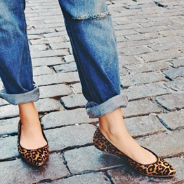This fall, flats and low heel boots are in. Photo courtesy Gap