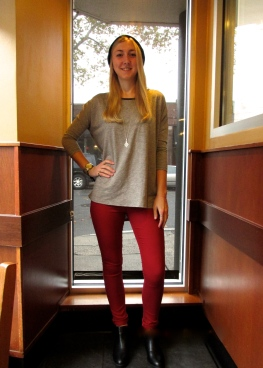 Steph McKean, Rye resident and fashion marketing student rocks a simple, but bold fashion look.